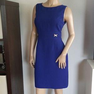 Tahari royal blue dress